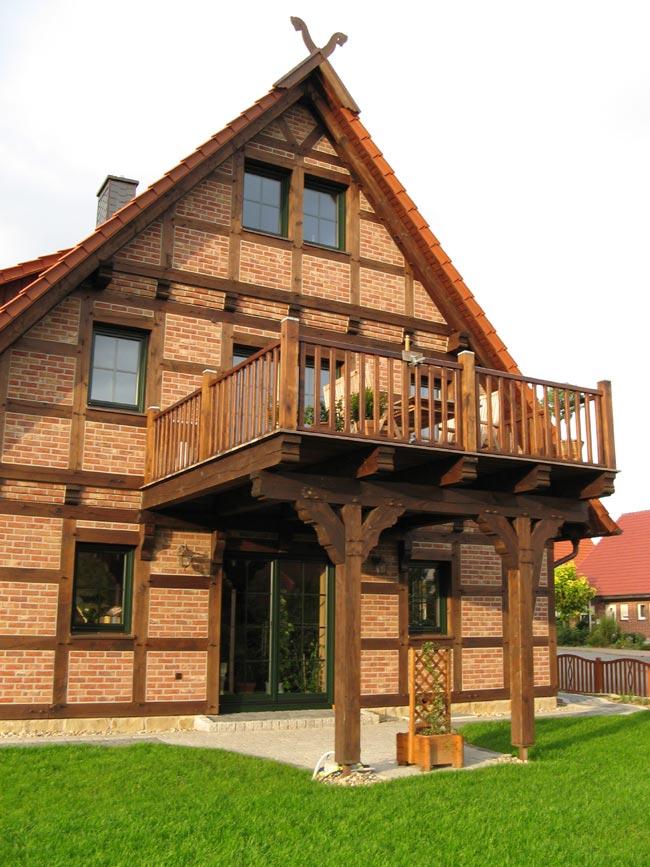 Balkon Dg Muhlenhaus Fachwerkhaus Hauser Aus Holz